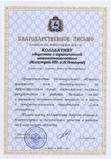 Благодарственное письмо Правительства Нижегородской области, 2008 год