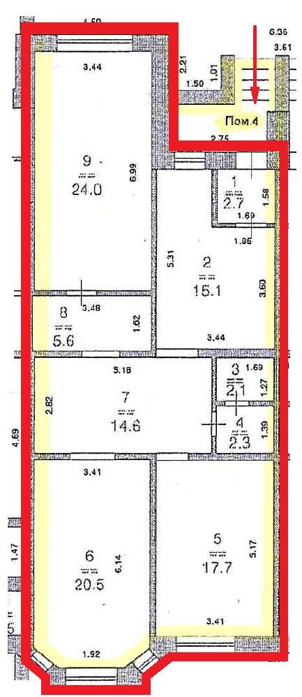Помещение П4. 104,6 м.кв.